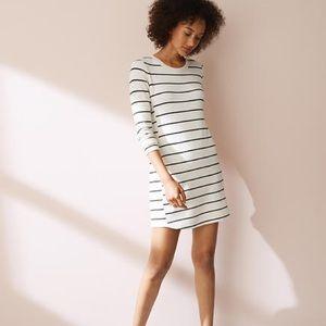 Lou & Grey | Rayon Striped Long Sleeve Dress
